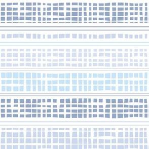 Blue ombre checks and stripes by Jac Slade