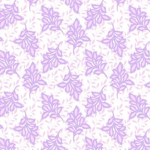 Boho tossed leaves lilac purple by Jac Slade