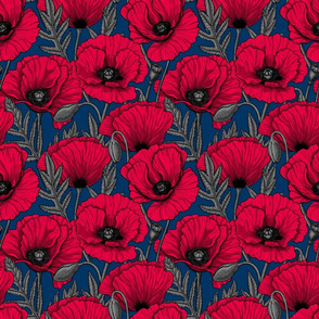 NIght poppy garden, small size
