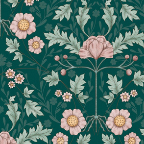 BellaNora Vintage Symmetry Floral pattern, large