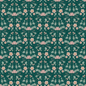 BellaNora Vintage Symmetry Floral pattern, small