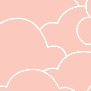 Clouds - Jumbo Size with Pink and White