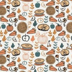 MINI pie fabric - cute pies design, thanksgiving fabric