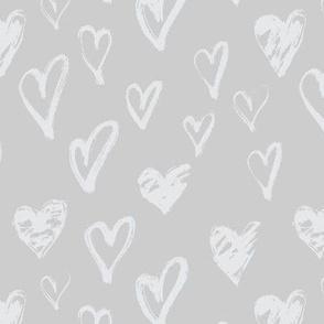 Love Scribbles Coordinate - Grey Hearts