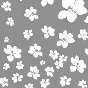 Magnolia Little Gem - Grey - 1 yard panel