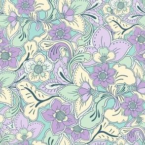 Boho Summer Lilac Mint by Jac Slade