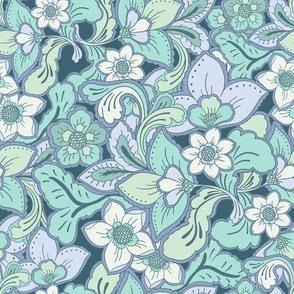 Boho Summer Teal green by Jac Slade
