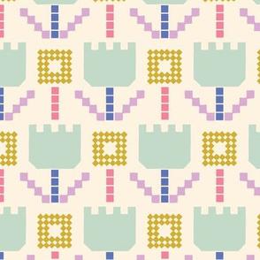 pixel flowers
