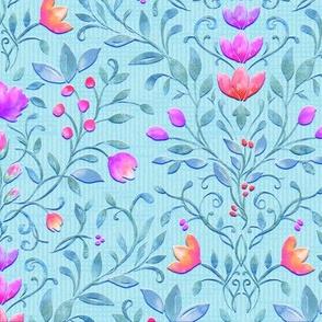 Floral Garden Damask