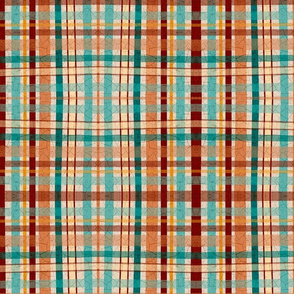 Crackled plaid for Kitchen Garden and folk Art butterflies collections