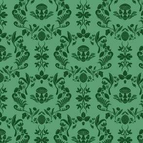 Forage Damask in Forest