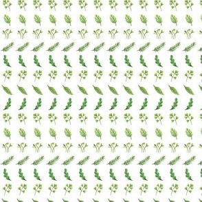 Veggie Stripes (1/2 scale) | Greens