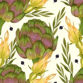 Floral Artichoke Vegetable