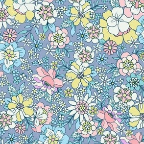 Candyfloss floral blue by Jac Slade