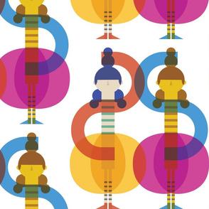 Colourful Geometric Ballet