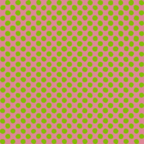 apple green - pink