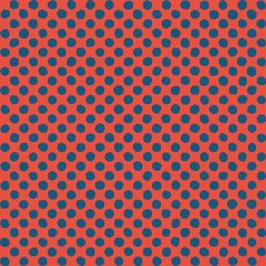 dark blue - red