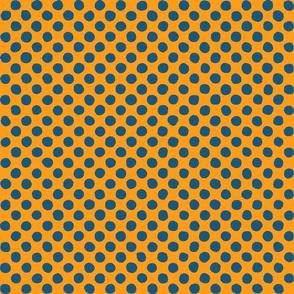 dark blue - orange