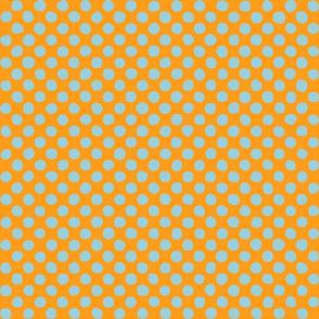 light blue - orange