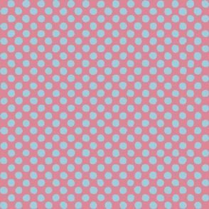 bright blue - pink