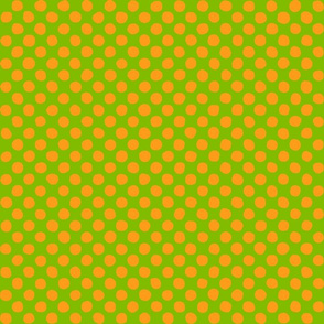 apple green - orange