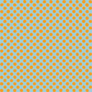 bright blue - orange