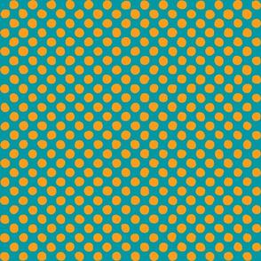 orange - bright blue
