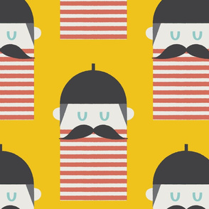 Beret Collection Moustache Yellow