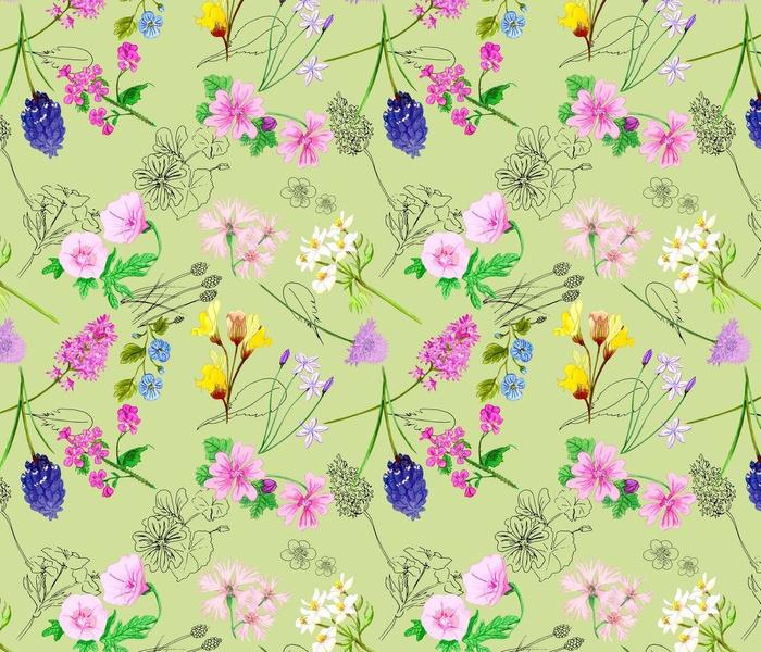 WildFlowers- Soft Green