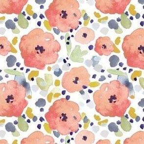 watercolour floral peach Leanne Nowell