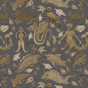 Small Deep Sea Cryptids in Brown