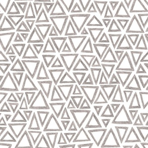 crayon triangles in grey on white