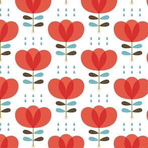 Scandi red poppy flower