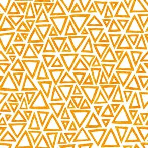 crayon triangles in solar orange