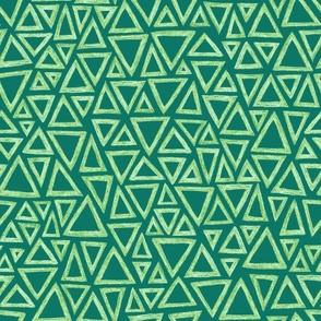 batik triangles - serene green