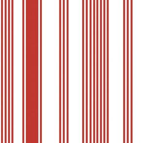 liberty red white stripe ticking americana farmhouse cottage core beach coastal terriconraddesigns