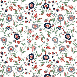 Liberty red white and blue americana farmhouse style cottage core blue floral red floral 4thofjuly terriconraddesigns
