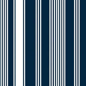 liberty navy blue white stripe ticking americana farmhouse cottage core beach coastal terriconraddesigns