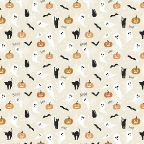 small // Halloween Boo Ghosts and Pumpkins
