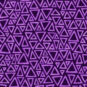 batik triangles - lavender on mad purple