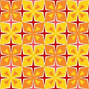 Tiki Toon Tiles Orange Papaya
