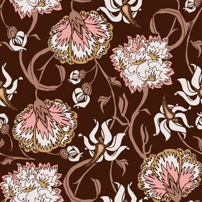 Floral Delight Brown
