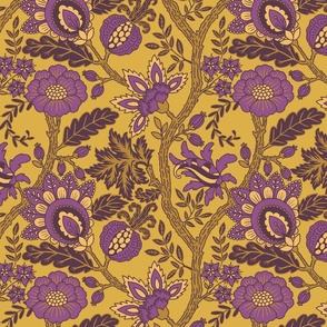 Large Purple and Gold Indienne