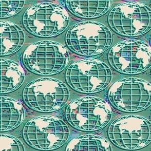Digital planet - green