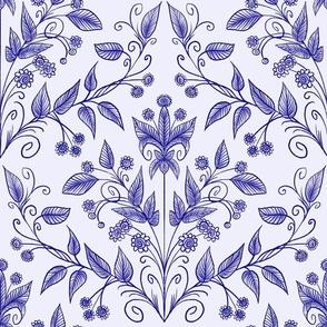 Large blue on blue vines