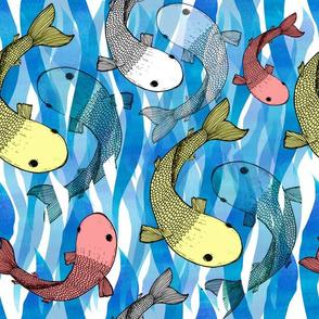Waterways with Koi Fish