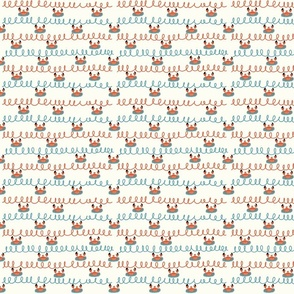 Save the Ocean Pattern Linocut Polygone Whale - large scale