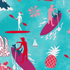 Hawaiian paddle boarding