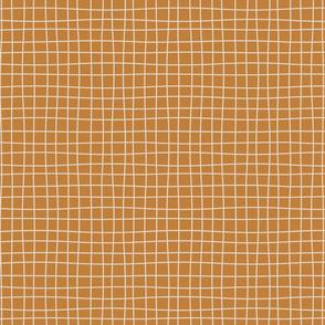 Messy lines - beige over rust