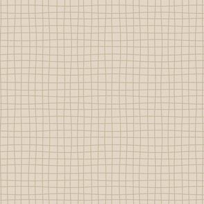 Messy lines - dark beige over light beige